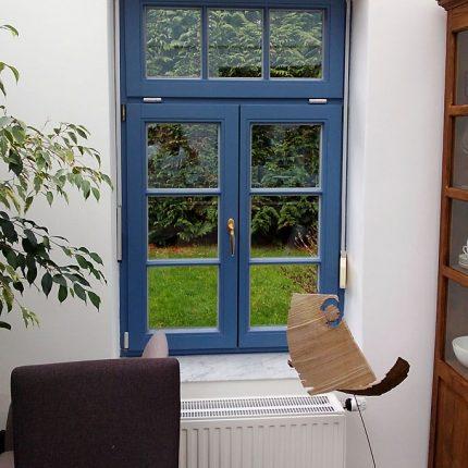 Fensteranstrich Fenster lackieren streichen Bremen blau 01