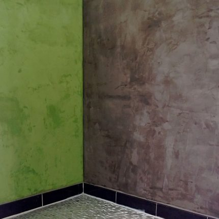 Fugenloses Badezimmer Spachteltechniken Wandgestaltung Bremen Maler 03