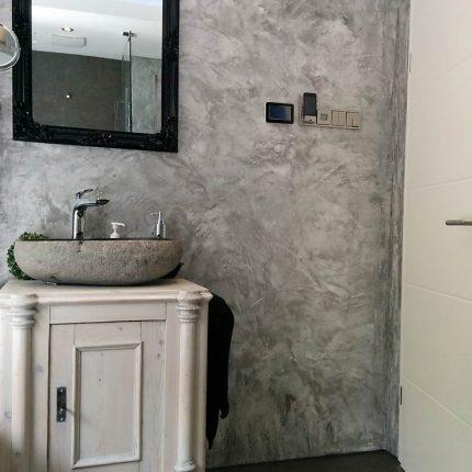 Fugenloses Badezimmer Spachteltechniken Wandgestaltung Marmor Bremen Maler 02