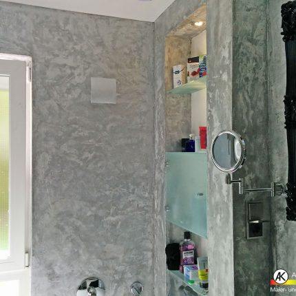 Fugenloses Badezimmer Spachteltechniken Wandgestaltung Marmor Bremen Maler 03