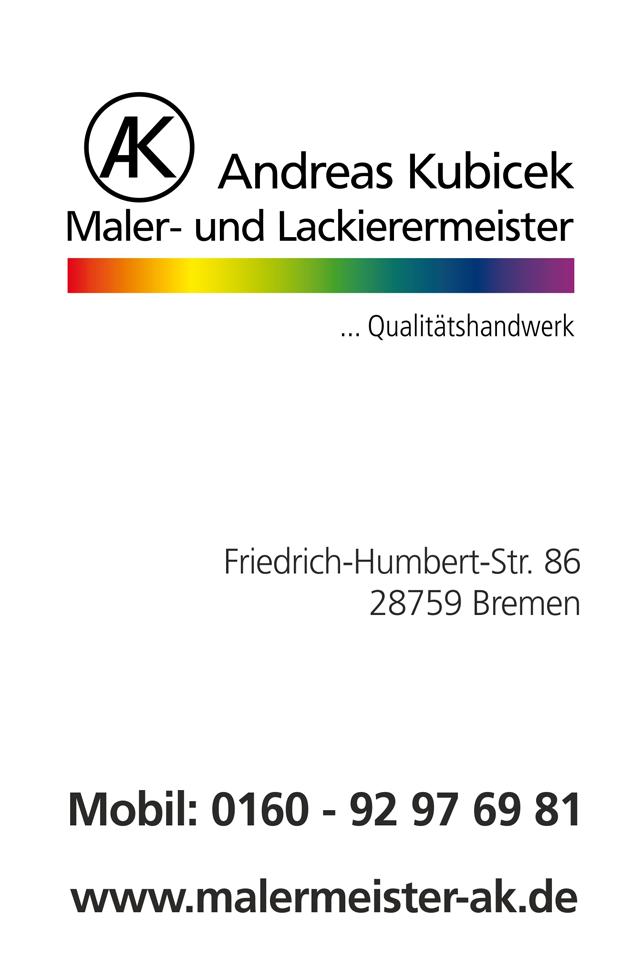 Maler Und Lackierermeister Kubiczek Bremen Visitenkarte A