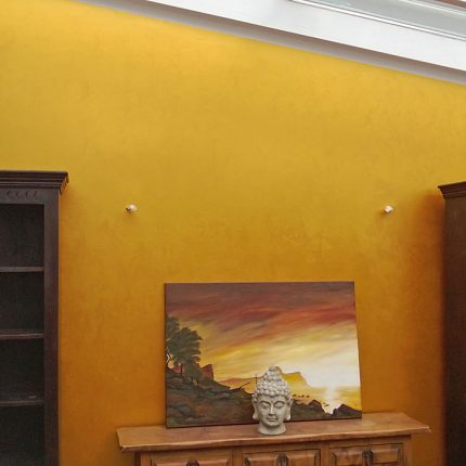 Wandgestaltung Spachteltechnik Metalloptik Gold Maler Bremen 04