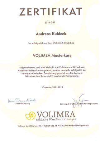 2014 Zertifikat Volimea