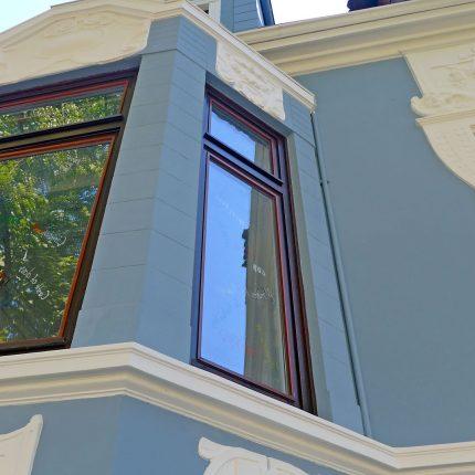 Altbremer Fassade Bremen Abbeizen Lackfarbe Mineralisch Gewebearmierung Spachteln Schleifen Anstriche Silikat Farbe 04