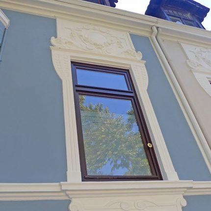 Altbremer Fassade Bremen Abbeizen Lackfarbe Mineralisch Gewebearmierung Spachteln Schleifen Anstriche Silikat Farbe 05