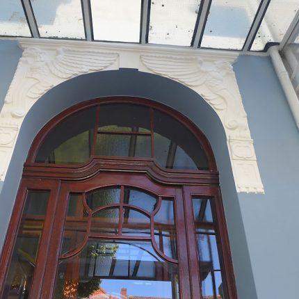 Altbremer Fassade Bremen Abbeizen Lackfarbe Mineralisch Gewebearmierung Spachteln Schleifen Anstriche Silikat Farbe 07