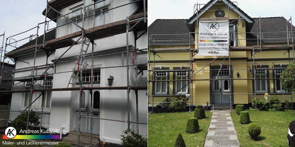 Fassadensanierung und Fassadenrenovierung in Bremen vorher nachher