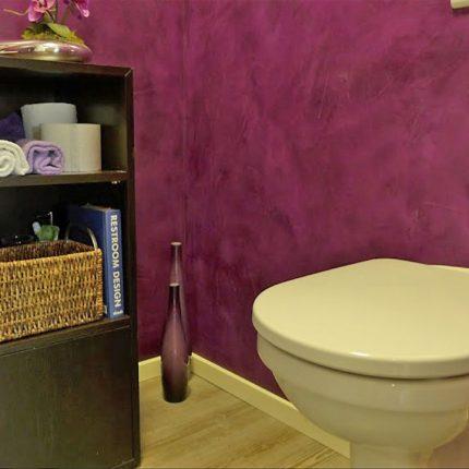 Fugenloses Badezimmer Spachteltechniken Wandgestaltung Bremen Maler 06
