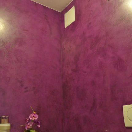 Fugenloses Badezimmer Spachteltechniken Wandgestaltung Bremen Maler 07