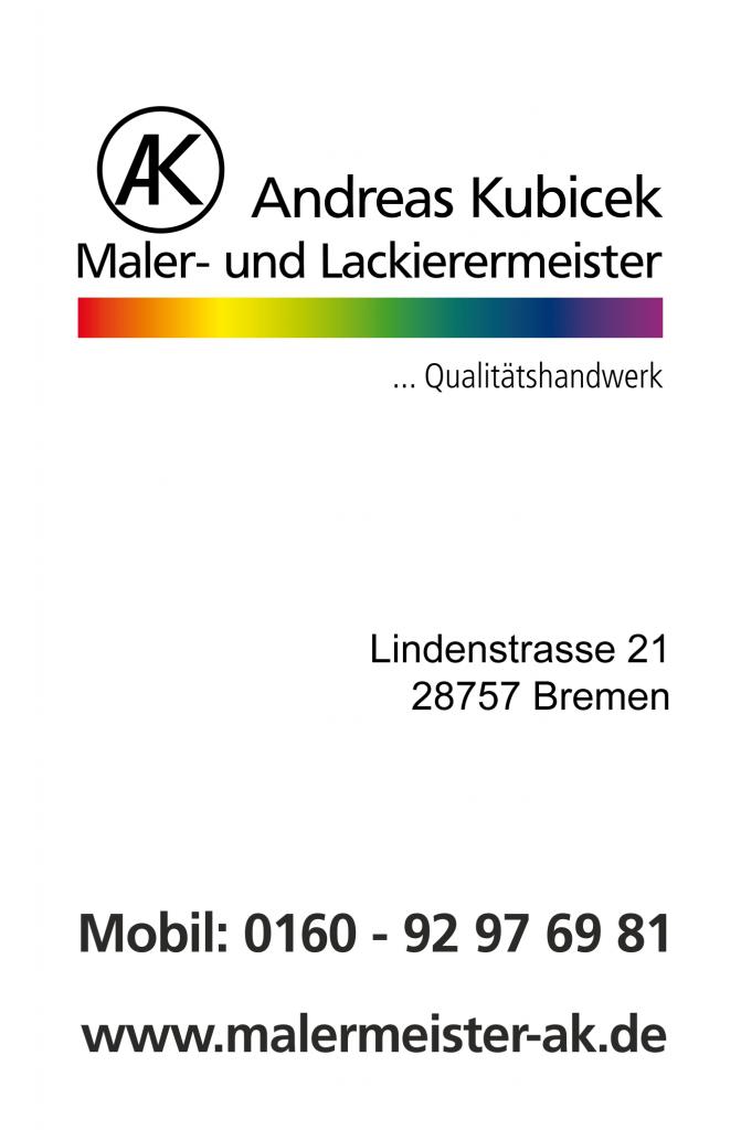Malermeister Kubiczek Bremen Visitenkarte a2